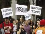 Protesta por becas dignas