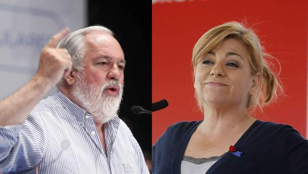 Miguel Arias Cañete y Elena Valenciano