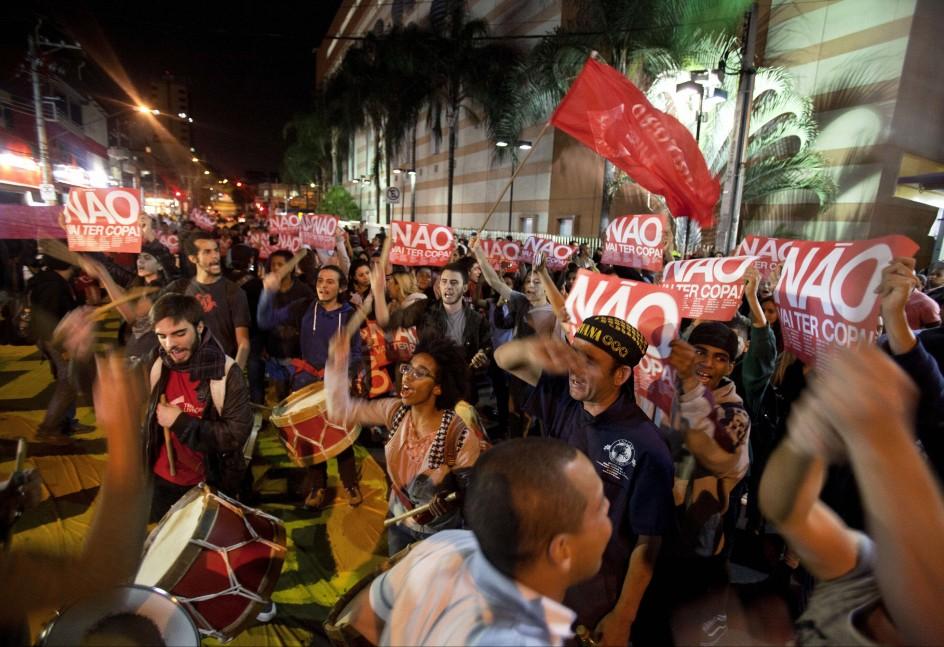 Manifestación en Brasil contra el Mundial de Fútbol