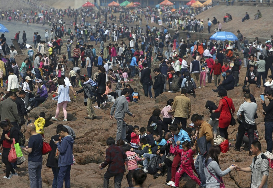 Día de playa en China
