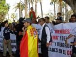 Protestas de sirios en Melilla