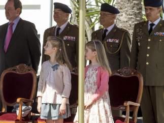 Las infantas, en un acto oficial