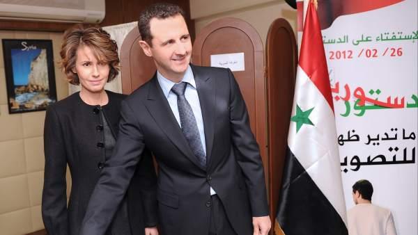Asma y Bachar Al Asad
