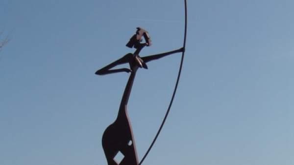 Monumento a la Arquera Laietana de Mataró (Barcelona).