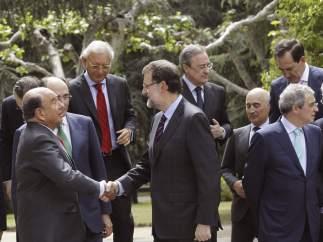 Botín saluda a Rajoy