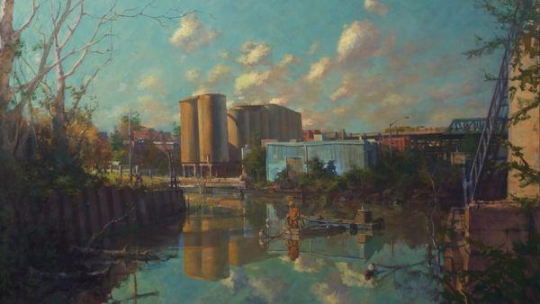 El pintor que siempre regresa a los paisajes industriales