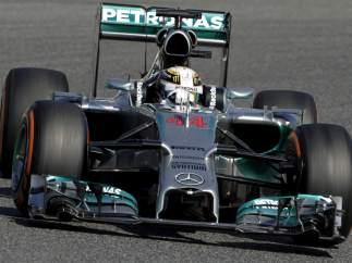 Lewis Hamilton, en Montmeló