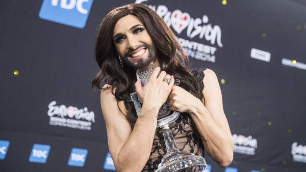 Conchita Wurst, tras ganar Eurovisión