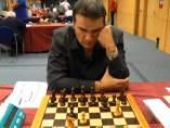 Agustín Fernández, ajedrecista con discapacidad visual