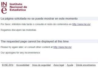 Error en la página del INE