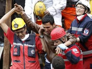 Rescate de mineros atrapados