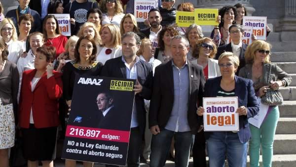 """Entregan en el Congreso 217.000 firmas contra la """"restrictiva"""" reforma de la ley del aborto"""