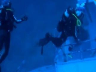 Buzos en Lampedusa