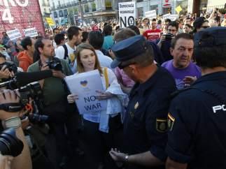 Ucrania, presente en la protesta