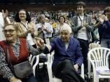 Pasqual Maragall, ovacionado en el mitin de ERC