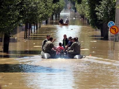 Los Balcanes, inundado