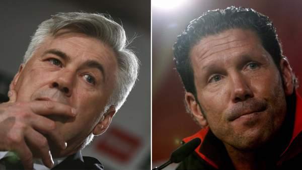 Ancelotti (izda.) y Simeone
