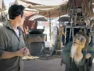 J.J. Abrams, en el set de rodaje de 'Star Wars'