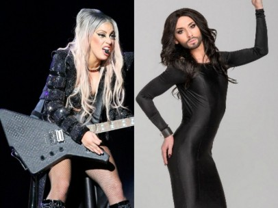 Lady Gaga y Conchita Wurst