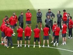 Entrenamiento del Atlético de Madrid