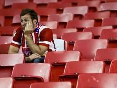 La pena de la afición del Atlético de Madrid