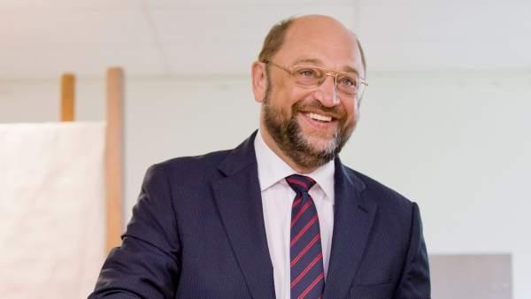 Martin Schulz vota en Alemania