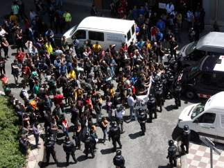 Protesta ante Can Vies