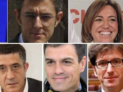 Posibles candidatos del PSOE
