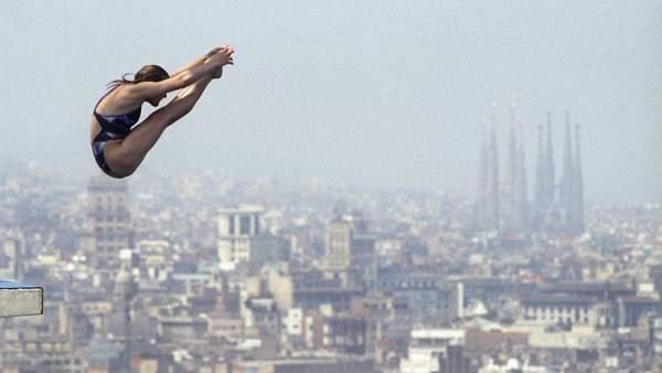 Sobre el cielo de Barcelona