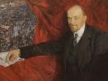 V. Lenin and manifestation, 1919
