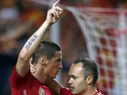 Fernando Torres y Andrés Iniesta