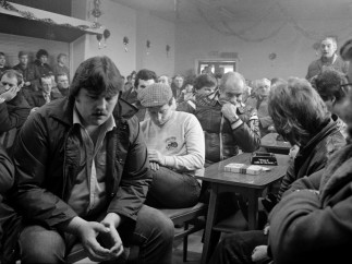 NUM branch meeting for Darfield Main Colliery at Mitchell & Darfield Social Club Wombwell, 5th January 1985