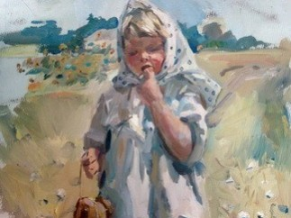 'Girl with bread-rings', 1956