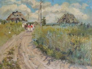 'Landscape with Cottages'
