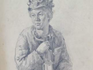'Miner woman', 1957