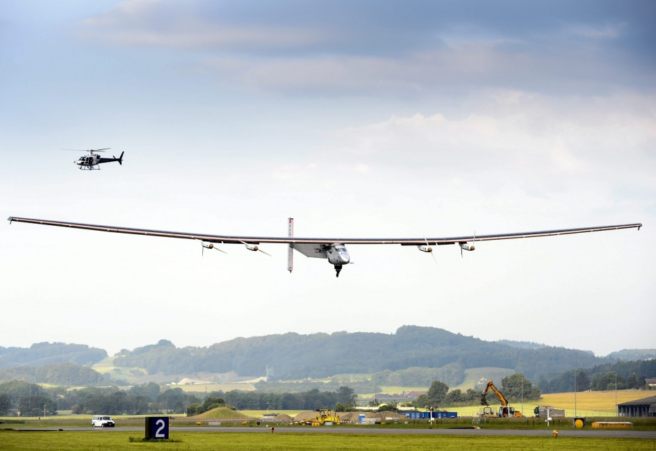 El avión solar que dará la vuelta al mundo
