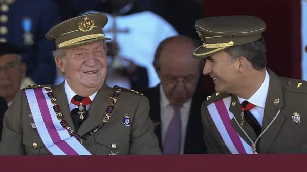 El Rey Juan Carlos y el Príncipe de Asturias
