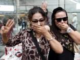 Gesto de las protestas en Bankok