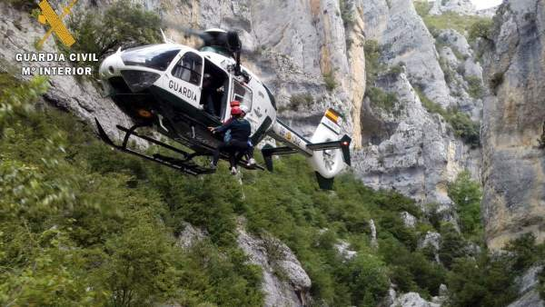 Espectacular rescate en Huesca