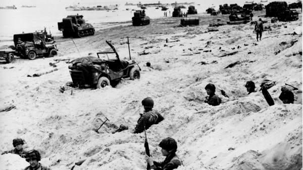 Tomando la playa de Normandía
