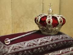 La corona y el cetro de la proclamación de Felipe VI