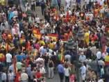 Manifestación a favor de la monarquía
