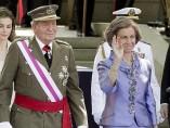 Don Juan Carlos y doña Sofía, en el Día de las Fuerzas Armadas