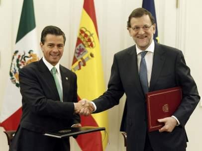 Rajoy, con Peña Nieto