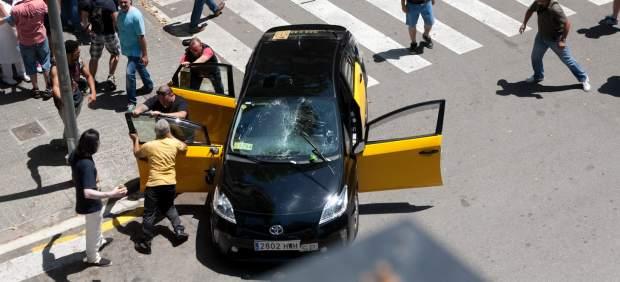 Protesta contra la aplicación Uber