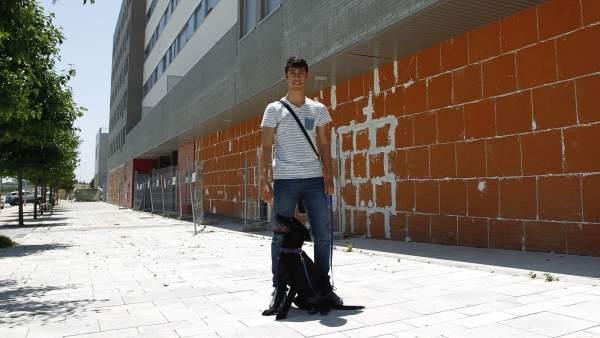 Ángel Ordoño, en Valdebebas