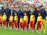 Francia y Honduras, sin himno