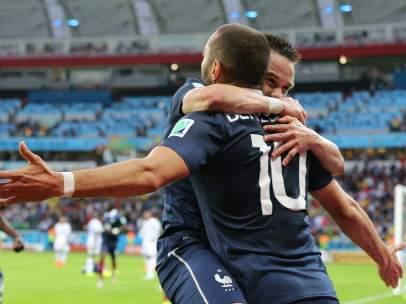 Mathieu Valbuena y Karim Benzema