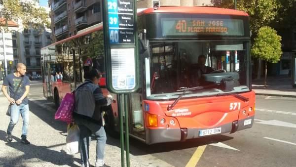 Autobús urbano en Zaragoza