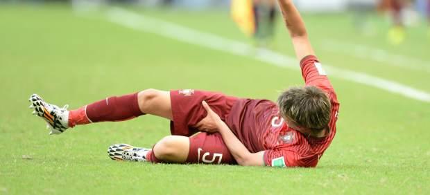 Fabio Coentrao se lesiona y no jugará la Eurocopa